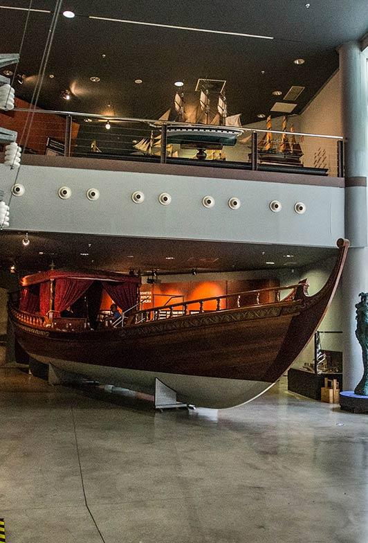 Exposición Falúa del Consulado de Bilbao en el Itsasmuseum