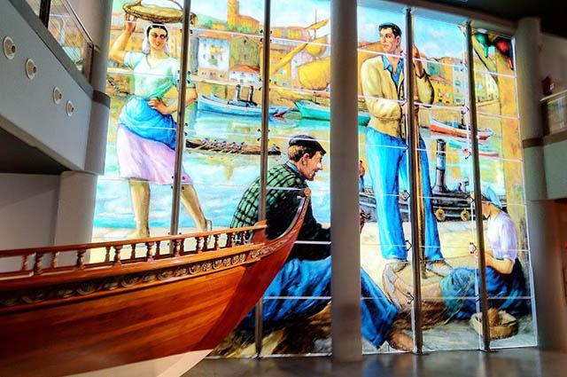 Sala Vidrieras Itsasmuseum