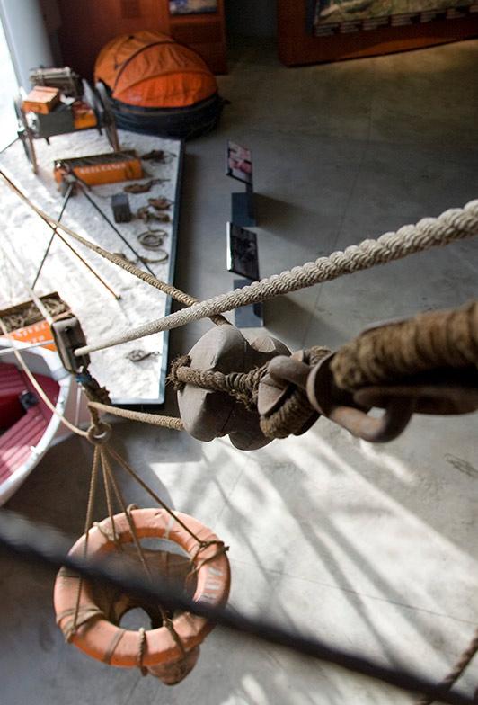 Fragmento de la Exposición sobre Salvamento Marítimo del Itsasmuseum